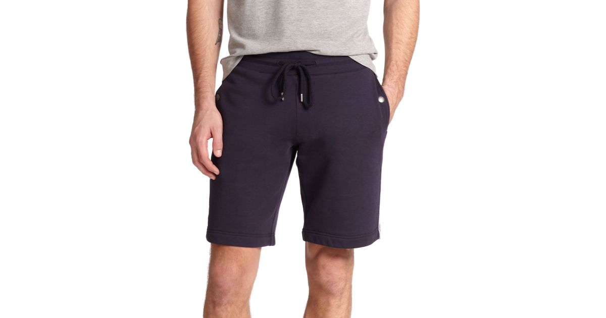 3b6301ccb597 Lyst - Moncler Drawstring Sweat Shorts in Blue for Men
