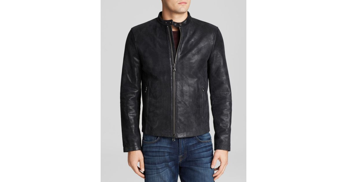 418279bce31f3 John Varvatos Usa Classic Leather Racer Jacket in Black for Men - Lyst