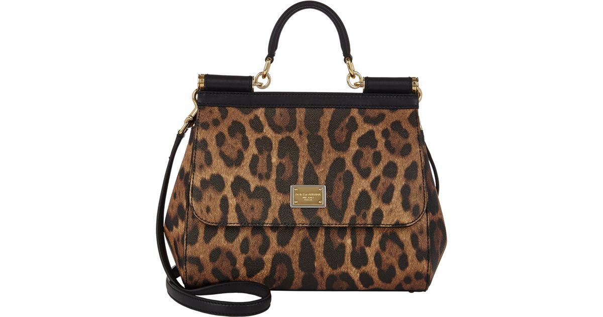 2cab121fd994 Lyst - Dolce   Gabbana Leopard-print Medium Miss Sicily Bag