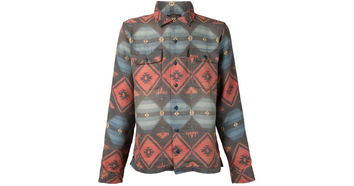 60316090 RRL Aztec Print Shirt in Red for Men - Lyst