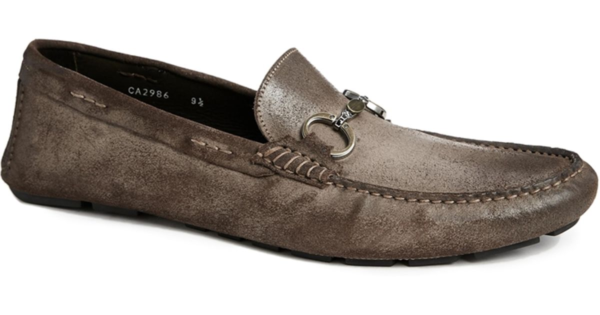 db0c1a04f56 Lyst - Dolce   Gabbana Suede Loafers in Brown for Men