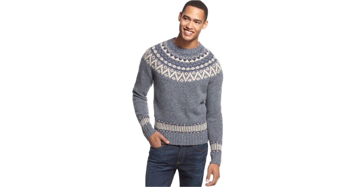 Lyst - Tommy hilfiger Pelham Fair Isle Sweater in Blue for Men