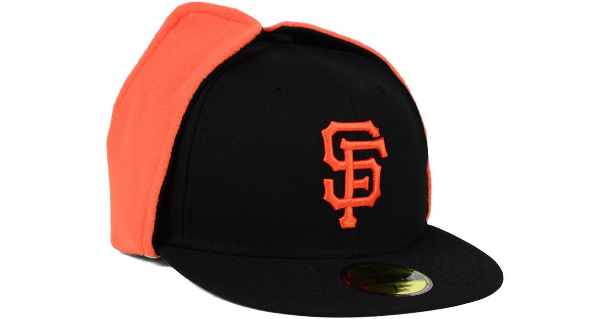 e1e1ca799df Lyst - KTZ San Francisco Giants Dog Ear 59fifty Cap in Black for Men