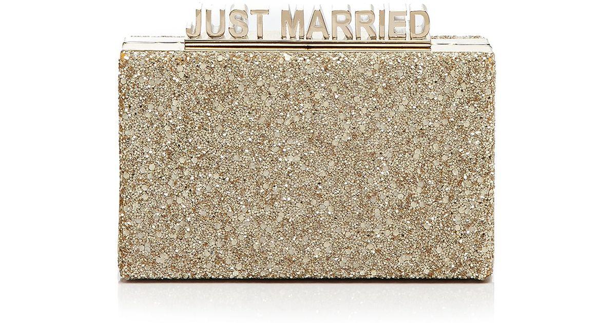 f0923a00b30150 Lyst - Kate Spade Clutch - Ravi Just Married in Natural