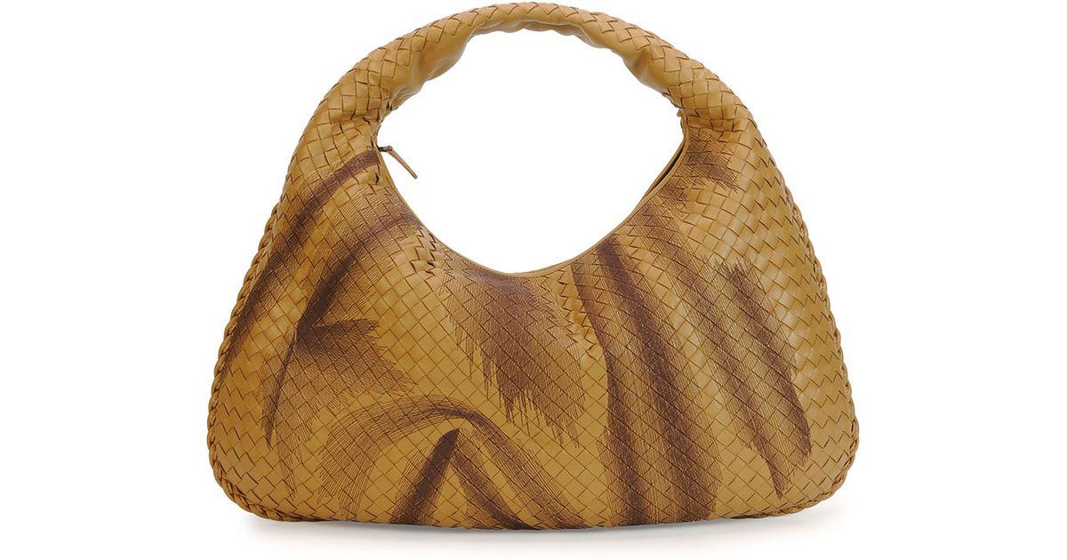 1e00043618 Lyst - Bottega Veneta Veneta Intrecciato Large Shadow Hobo Bag in Natural