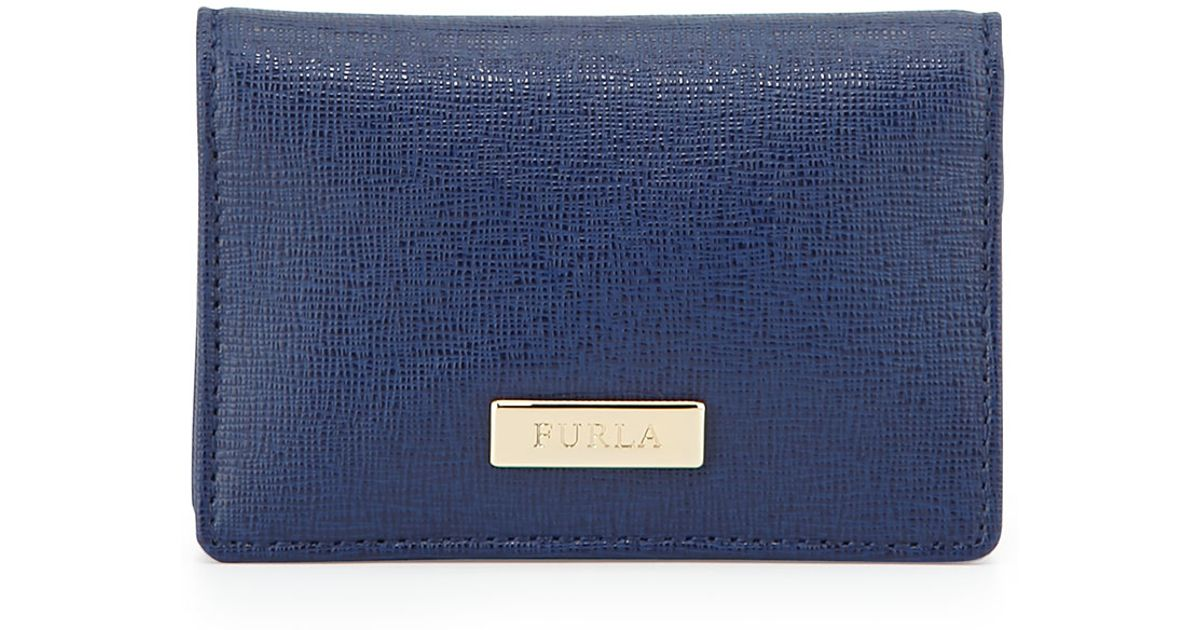 99cc526b1b2c Furla Classic Business Saffiano Card Case in Blue for Men - Lyst