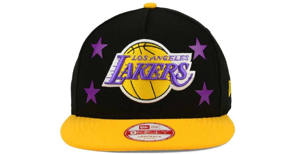 9860b2f04b4 Lyst - KTZ Los Angeles Lakers Logo Mural Snap 9fifty Cap in Black for Men