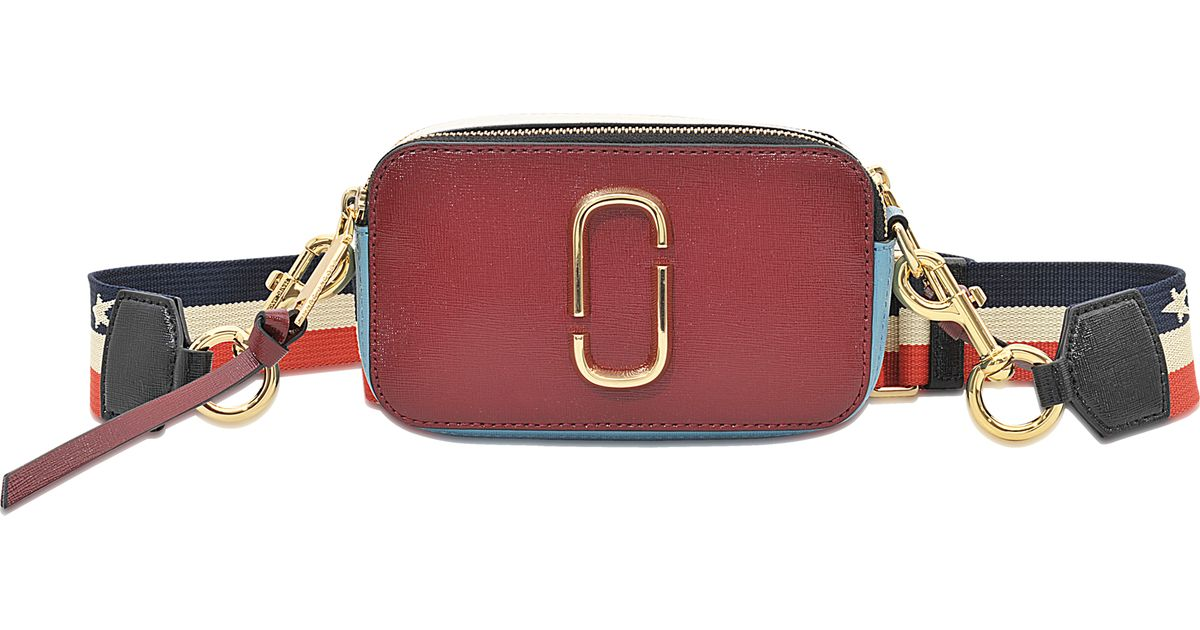 48600b476e4c Lyst - Marc Jacobs Snapshot Colorblock Saffiano Small Camera Bag in Red
