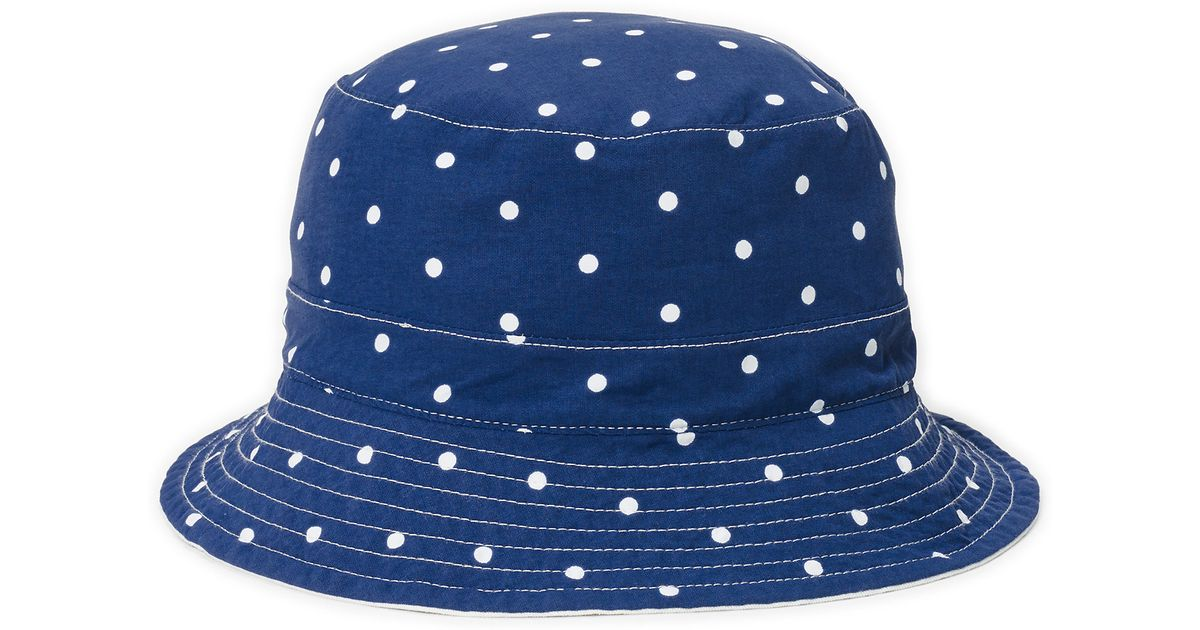 1227b85b58f60 Polo Ralph Lauren Reversible Twill Bucket Hat in Blue for Men - Lyst