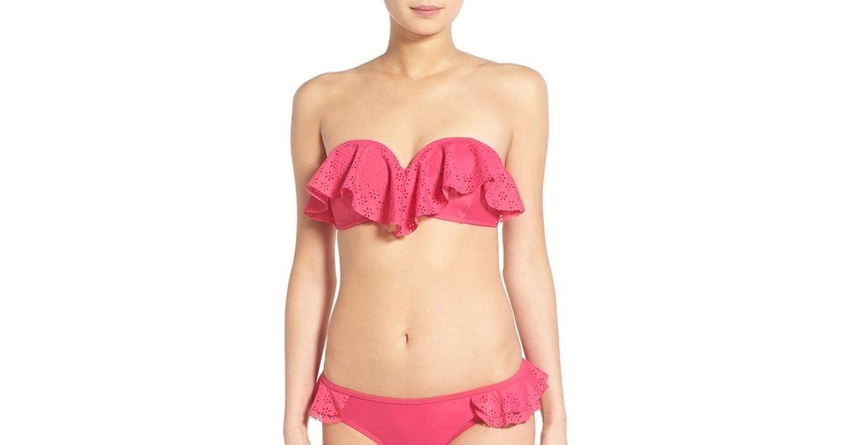 Relate Pink bandeau bikini shemale