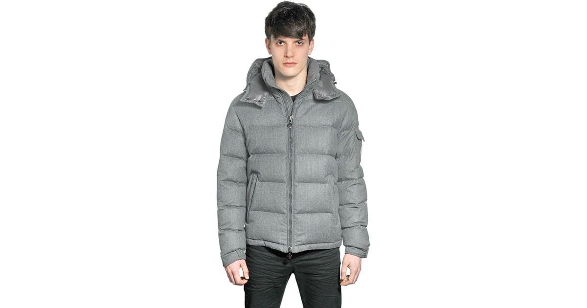 Moncler Montgenevre Light Flannel Down Jacket in Gray for Men - Lyst