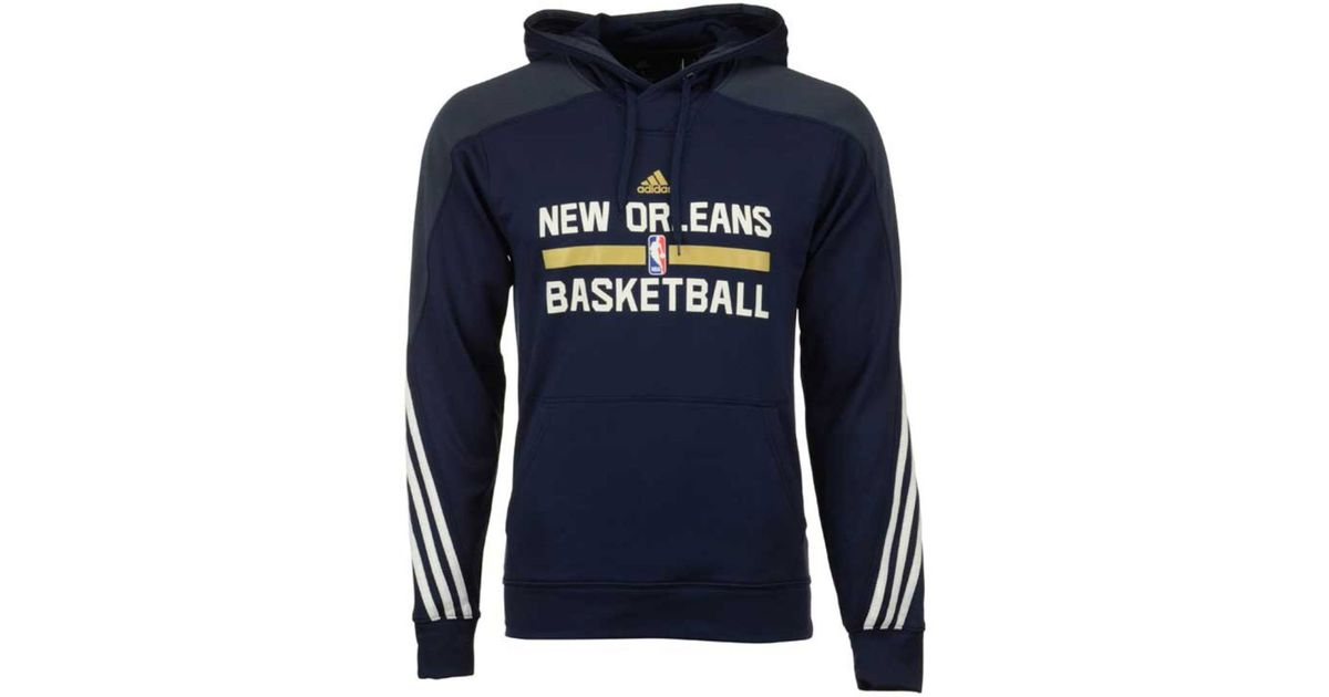 Basketball Adidas Mens New Orleans Pelicans Hooded Pullover