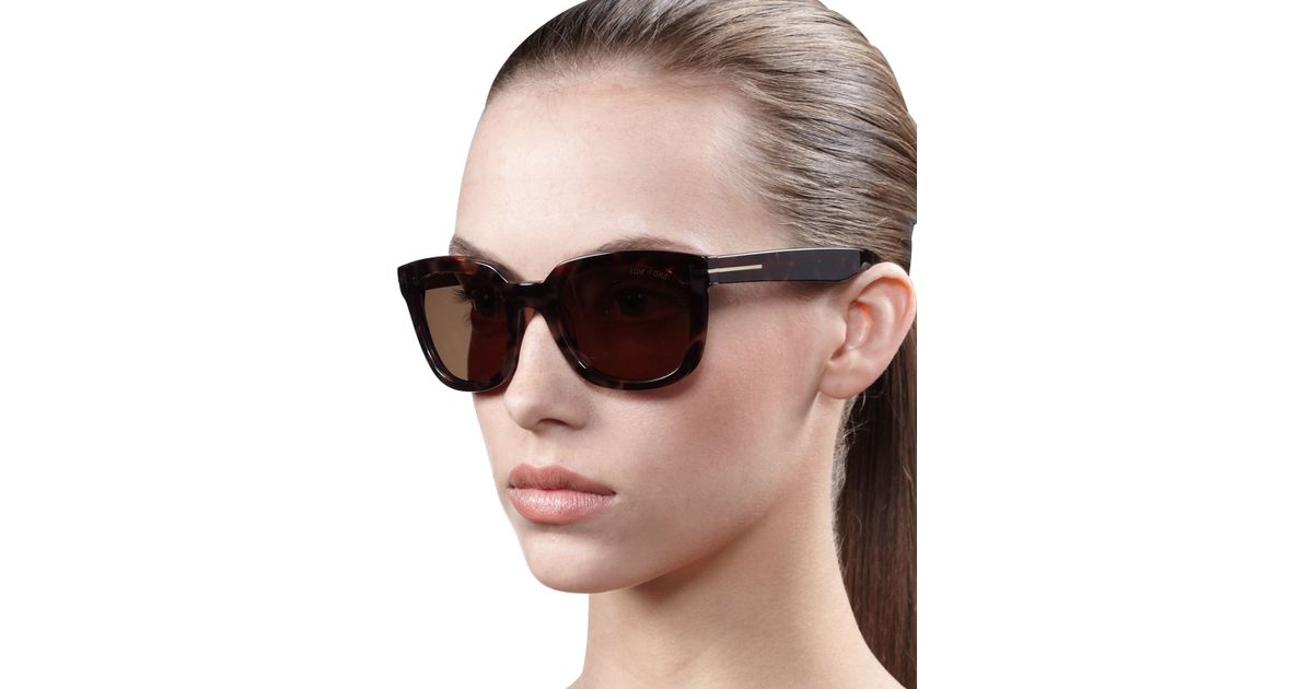 4e112e41e13 Lyst - Tom Ford Campbell Metal-Detail Sunglasses in Black