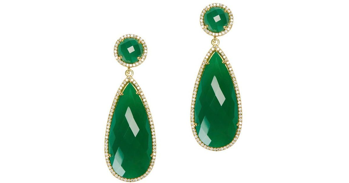 earrings statement diamante n glitzy crystal green glamorous product