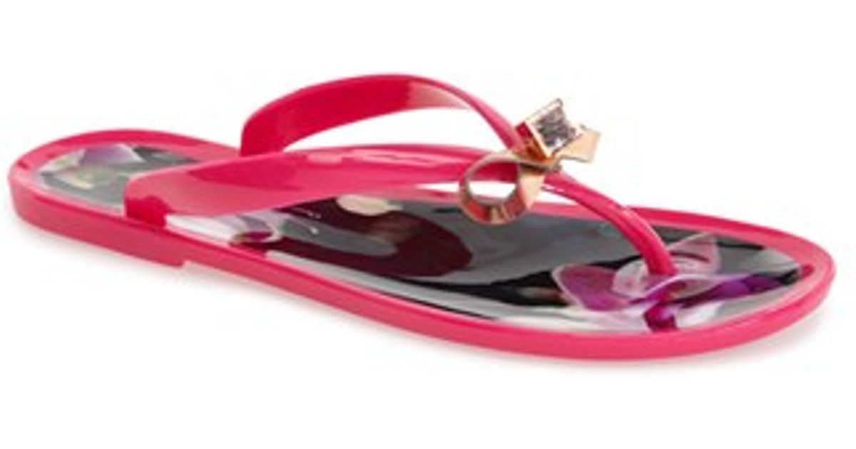 8c7c631e2 Lyst - Ted Baker  Taito  Thong Sandal in Purple