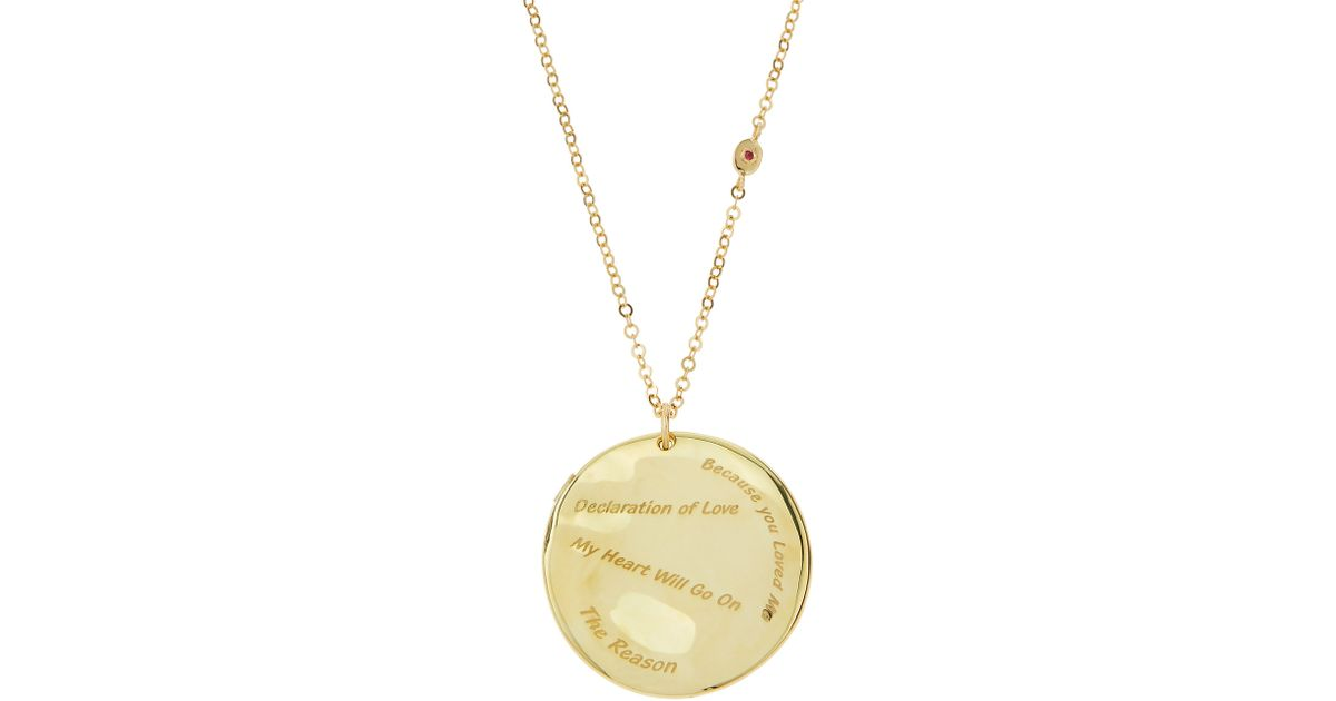 6b8dc8359856 Roberto Coin 18k Gold Love Disc Necklace in Metallic - Lyst