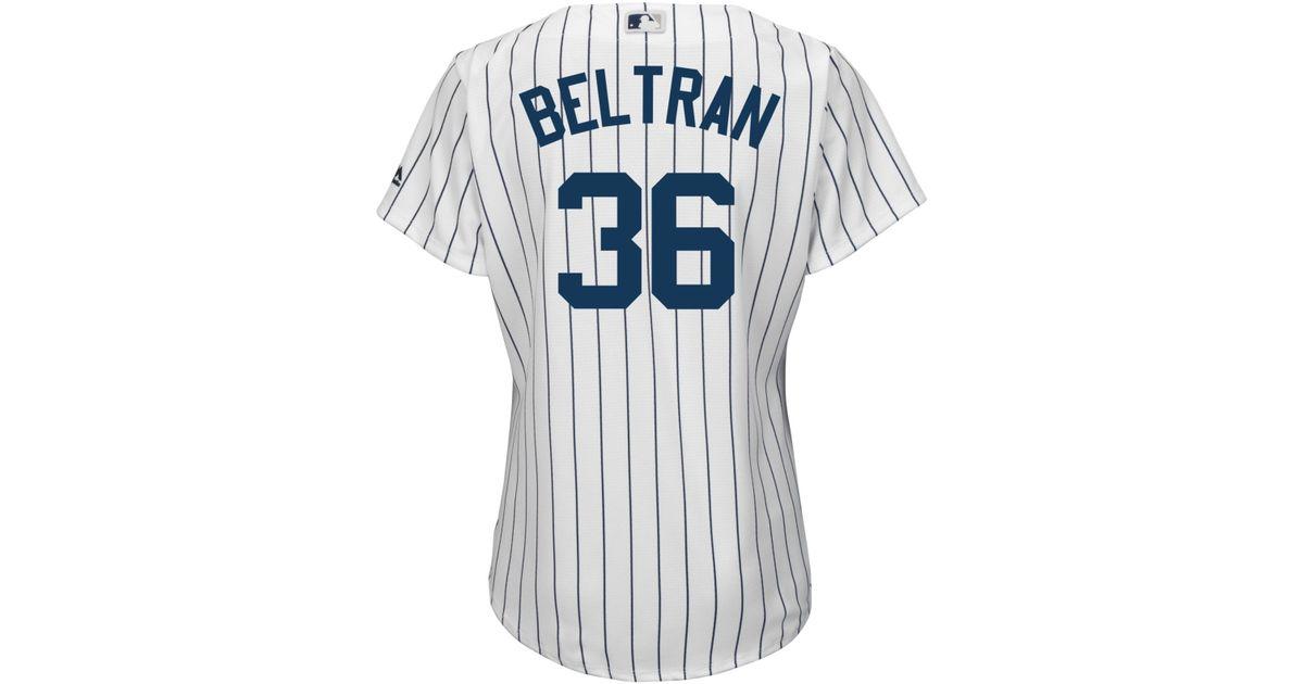 Majestic White Women S Carlos Beltran New York Yankees Cool Base Jersey Lyst