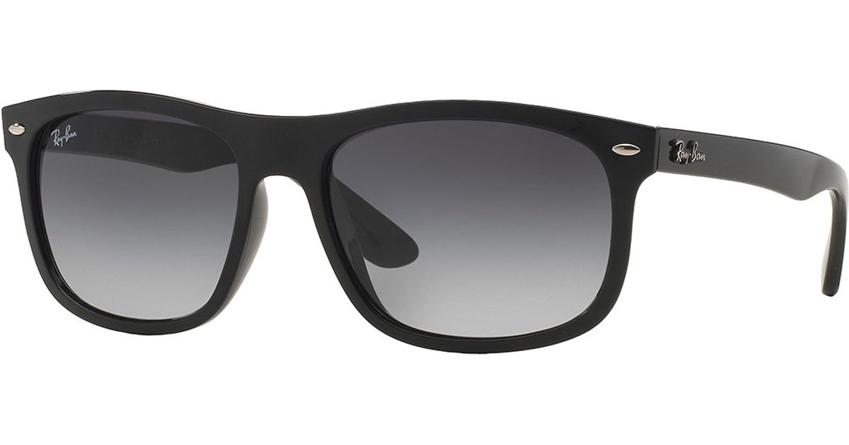 Ray-ban Men's Flat-top Plastic Sunglasses in Black