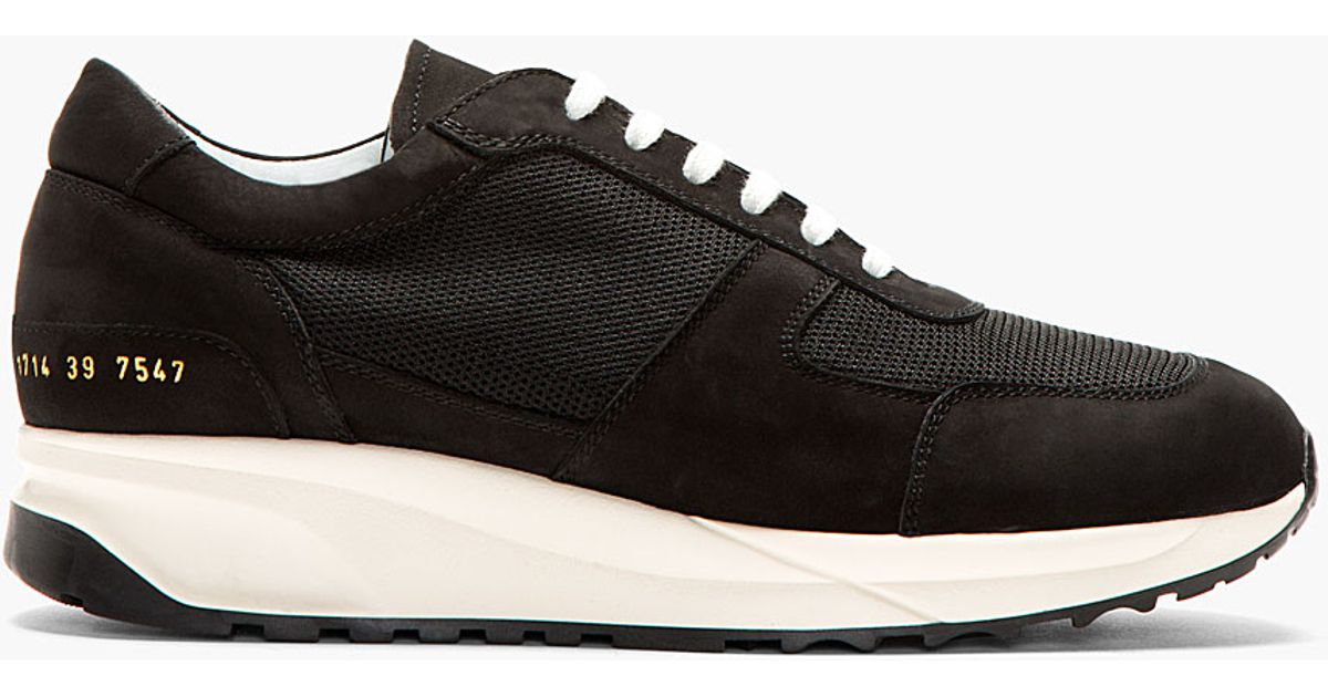 Lyst - Common Projects Black Track Running Shoes in Black for Men 716edabc1