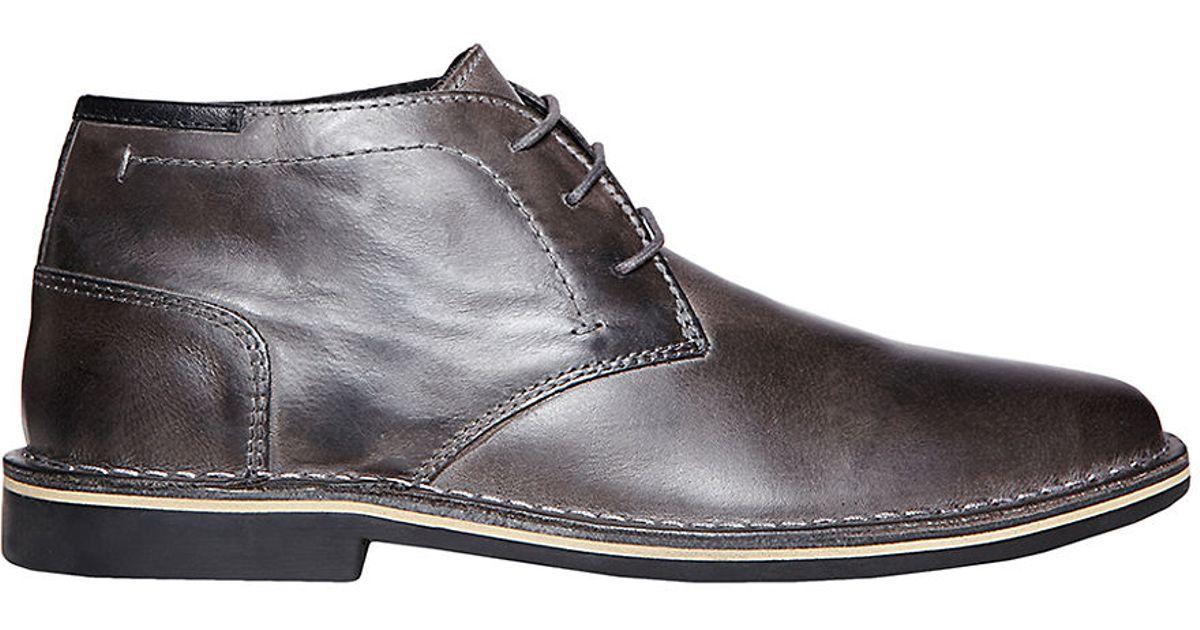 45dc89cd979 Steve Madden - Gray Hestonn Leather Chukka Boots for Men - Lyst