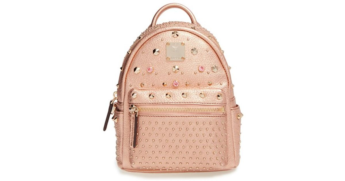41f00fa90 MCM 'x Mini Bebe Boo' Leather Backpack in Natural - Lyst