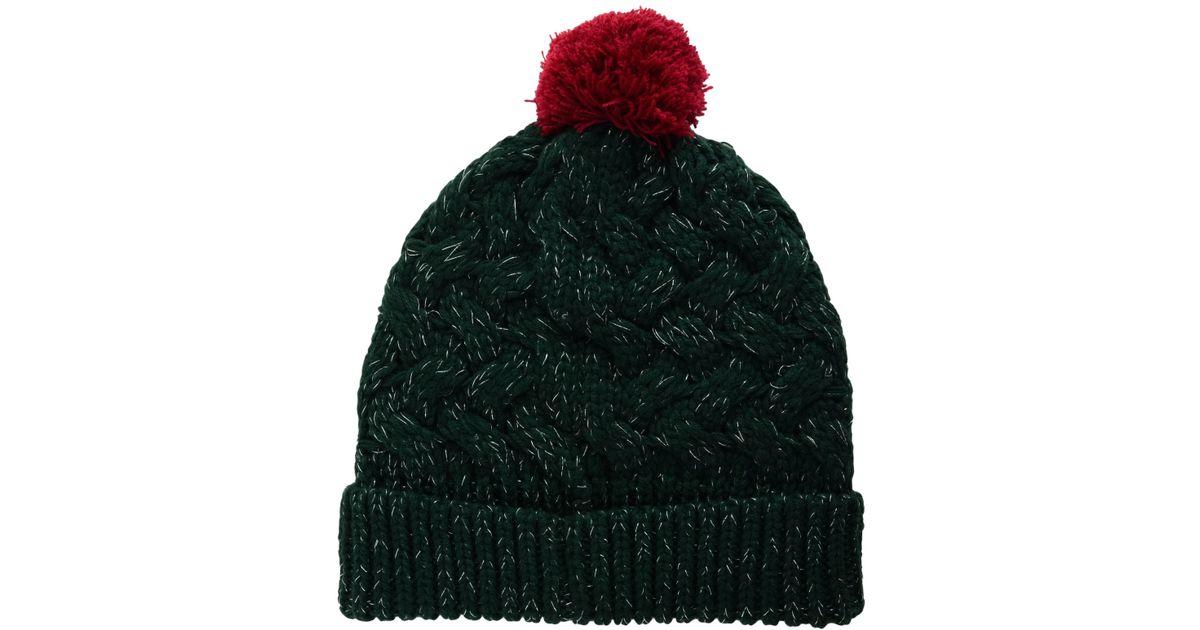 b14c26eaf54 Lyst - 47 Brand Women s Minnesota Wild Fiona Pom Knit Hat in Black
