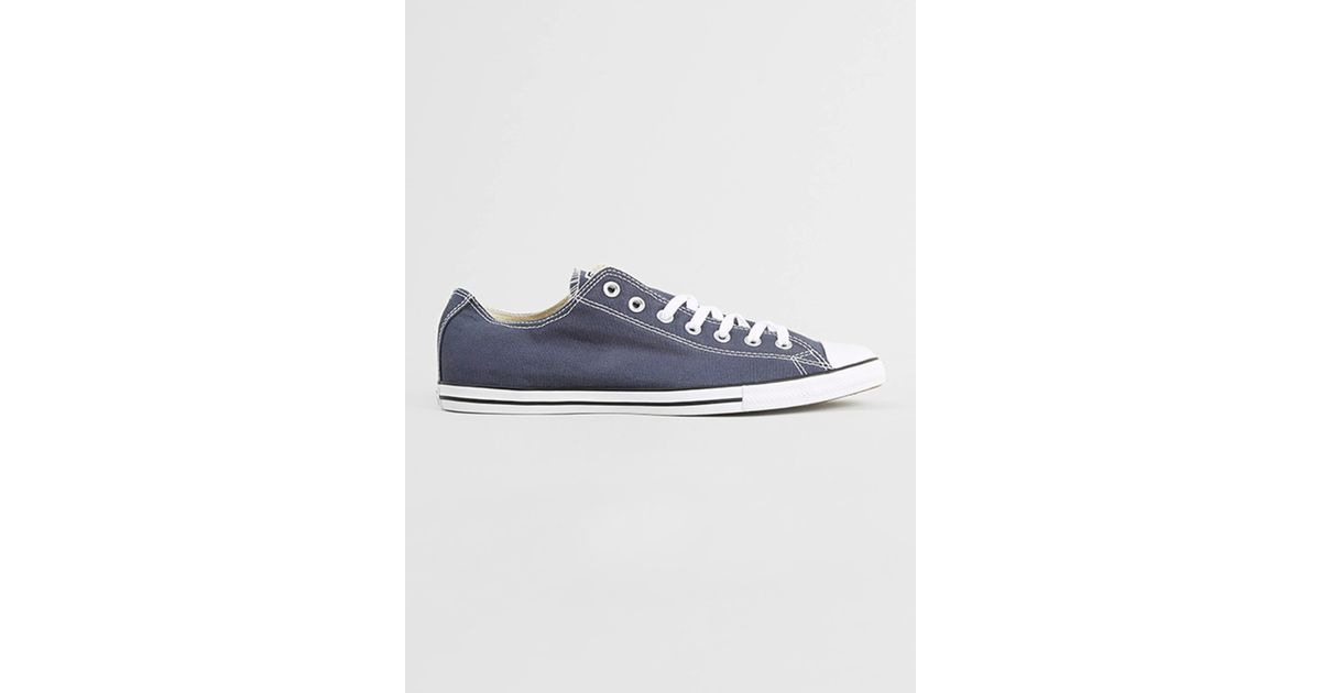 Lyst - Converse Blue All Star Lean Plimsolls in Blue for Men d0fdfc244