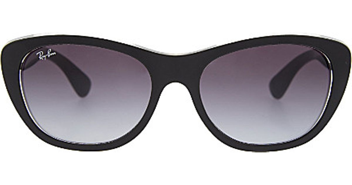 ray ban tinted cat eye sunglasses in black lyst. Black Bedroom Furniture Sets. Home Design Ideas