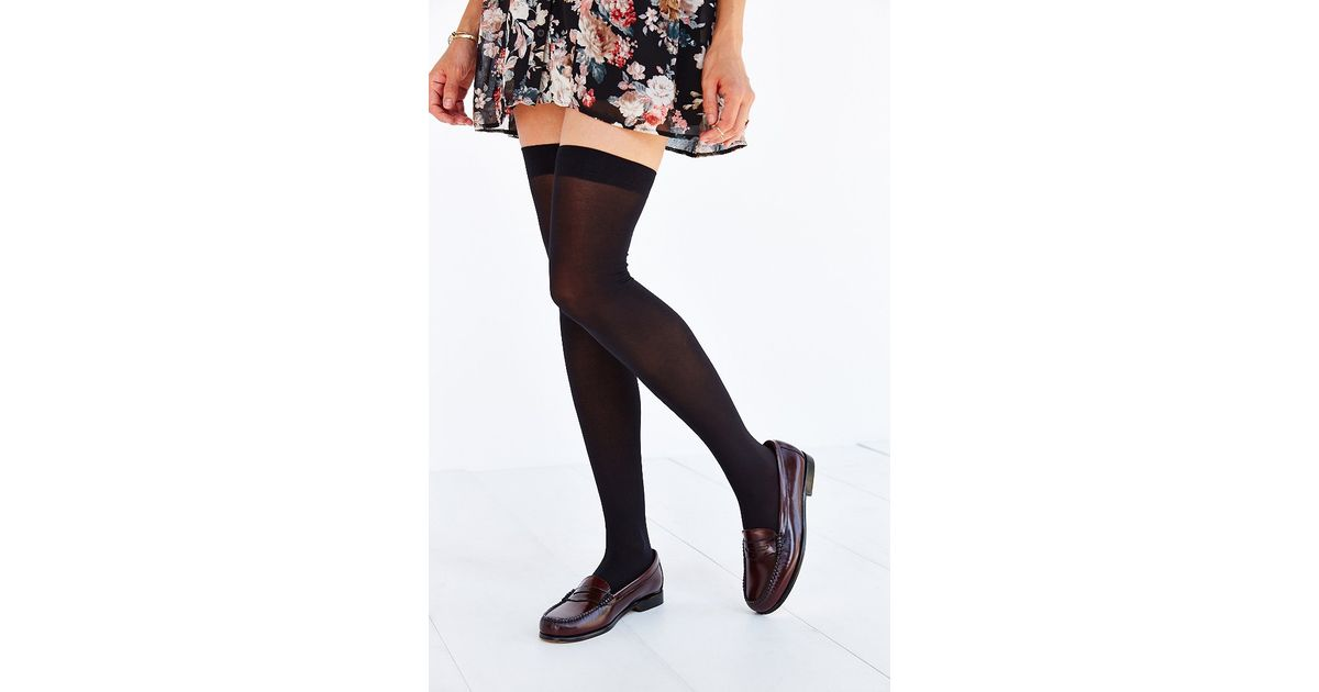 4330853c4e2 Lyst - Urban Outfitters Classic Super-High Thigh High Tight in Black