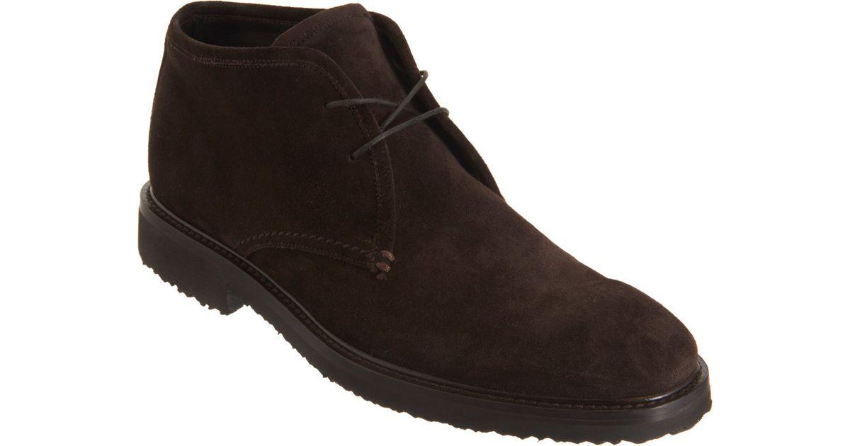7d0f9e8c99652 Ermenegildo Zegna Suede Chukka Boots in Brown for Men - Lyst