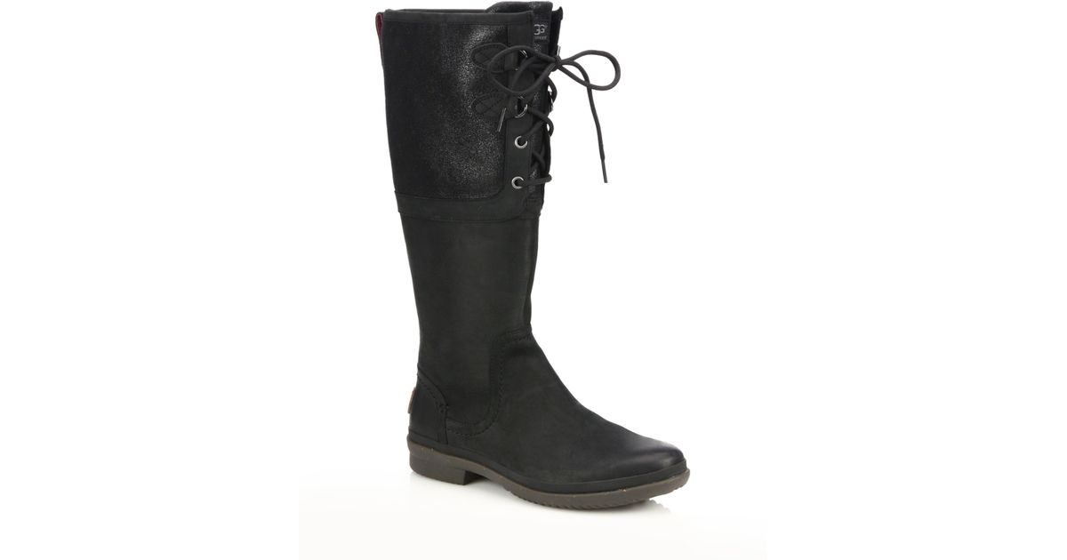 UGG Black Elsa Suede & Pure Waterproof Boots