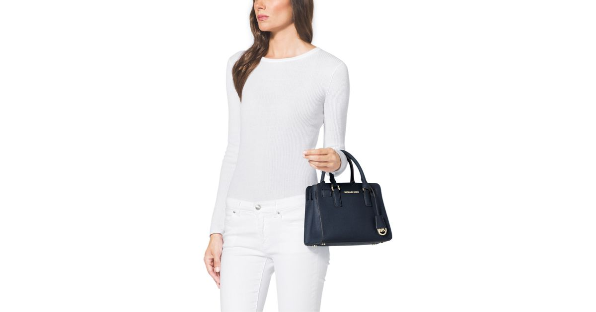 cbef844c03d9 Lyst - Michael Kors Dillon Small Saffiano Leather Satchel in Blue