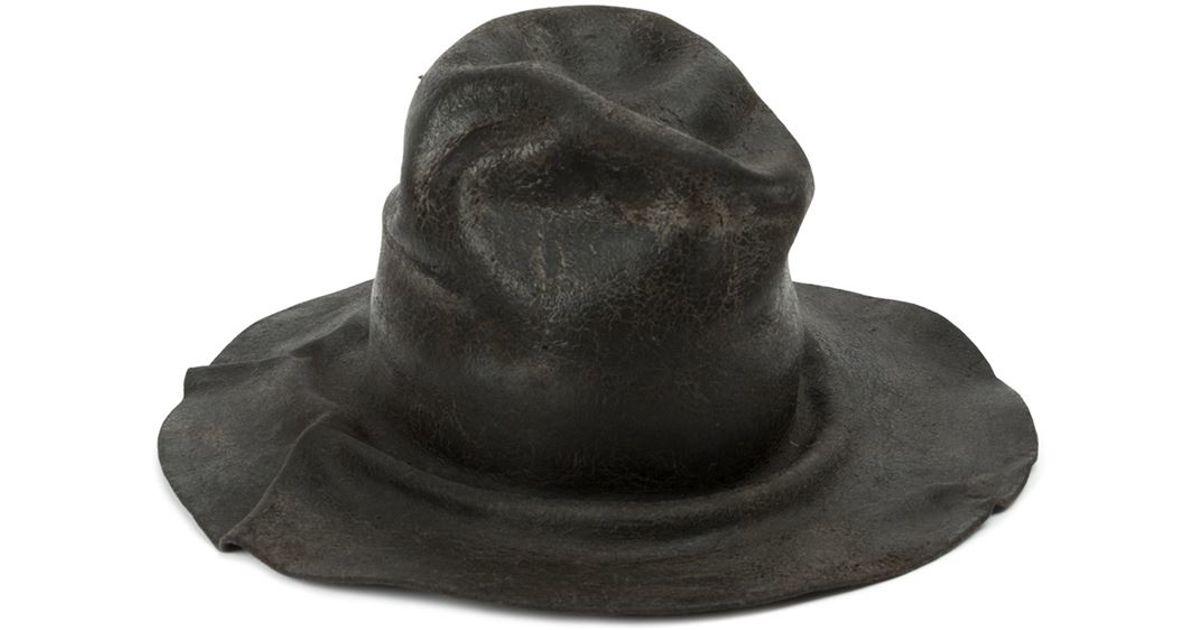 Lyst - Horisaki Design   Handel Distressed Felt Hat in Gray for Men b02dc0ef2384