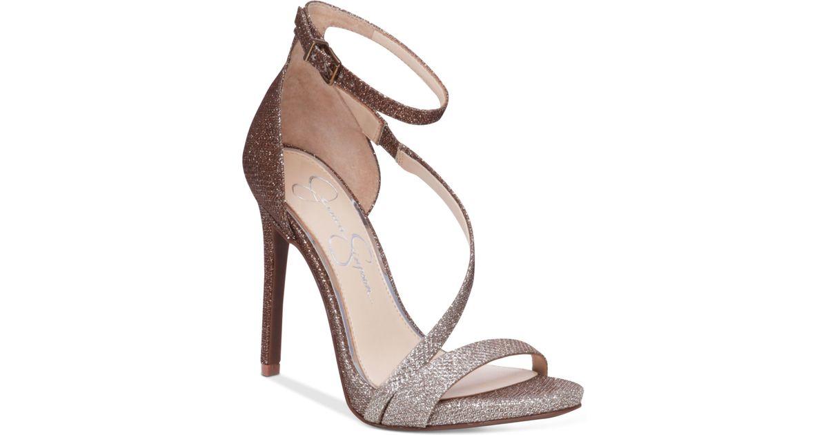 8f60db6fcf4da3 Jessica Simpson - Metallic Rayli Evening Dress Sandals - Lyst