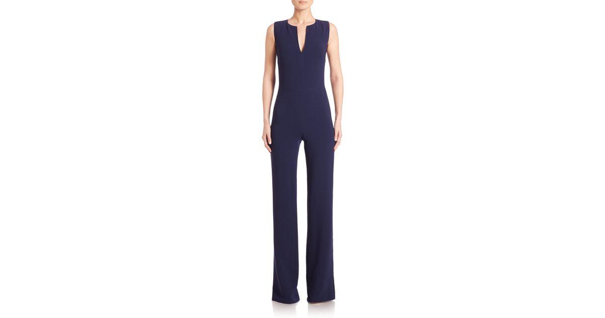 493c8d082c4f Lyst - Ralph Lauren Collection Isadore Wide-leg Jumpsuit in Blue