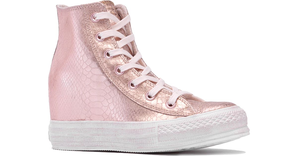Converse Leather Chuck Taylor Platform Plus in Pink - Lyst 3004b9b20