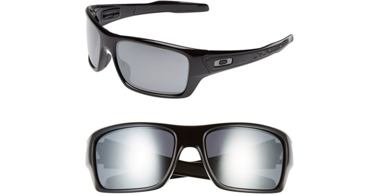 579c72a11a Lyst - Oakley  turbine  65mm Sunglasses - Polished Black  Black Iridium in  Black for Men