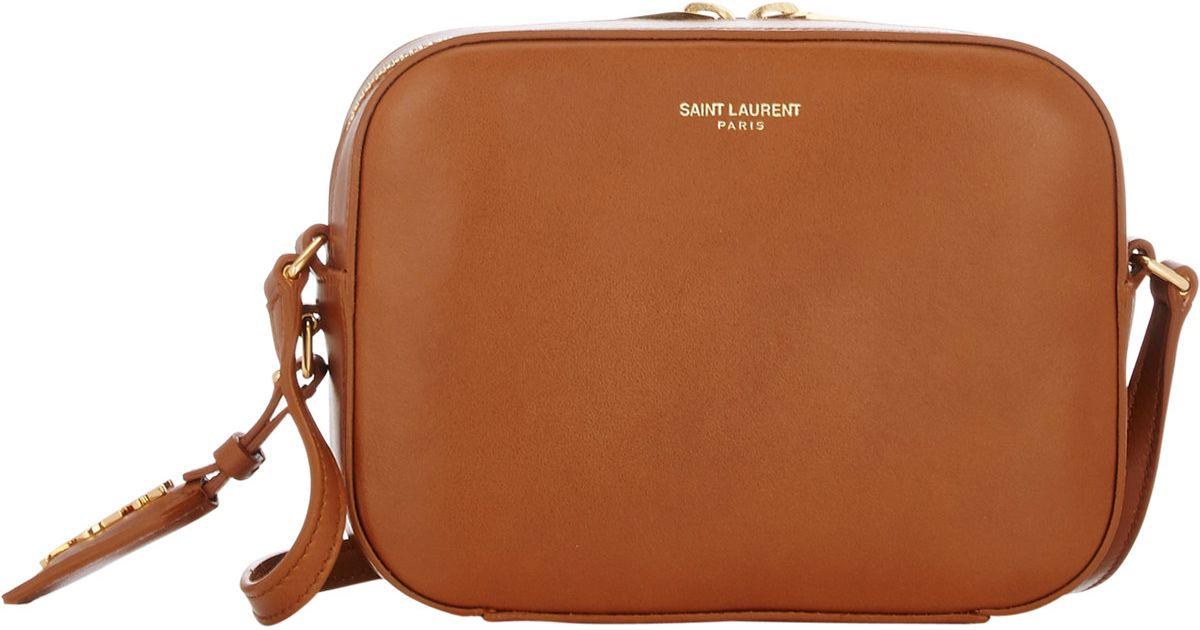 Lyst - Saint Laurent Monogram Small Camera Bag in Brown e21215ac427b9