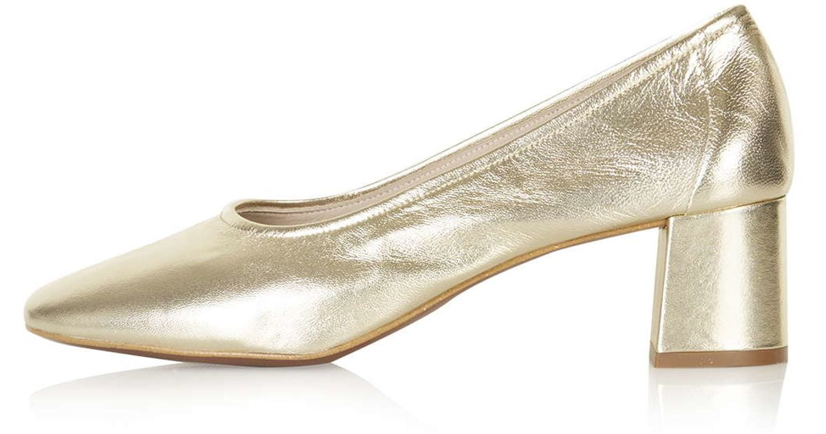 816c6e477dd Lyst - TOPSHOP Juno Soft Glove Mid Shoes in Metallic