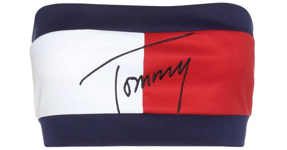 2d39f6eca Tommy Hilfiger Mytheresa.com Exclusive Flag Embroidered Bandeau Top in Blue  - Lyst