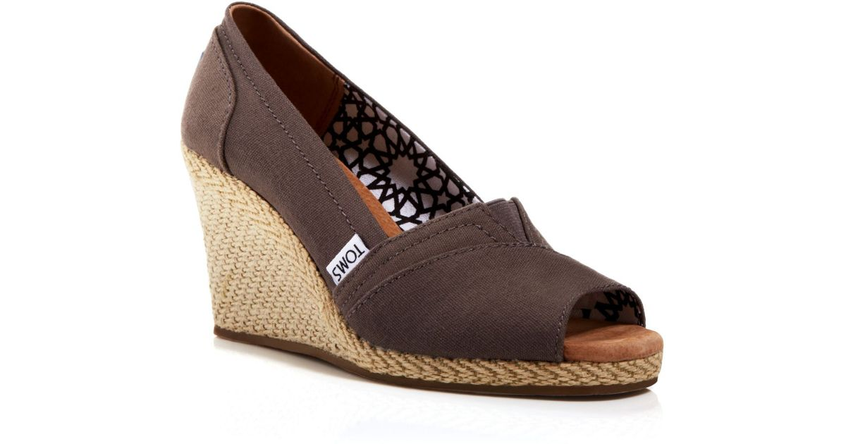 227d32f8ccd Lyst - TOMS Espadrille Wedge Sandals - Classic in Brown