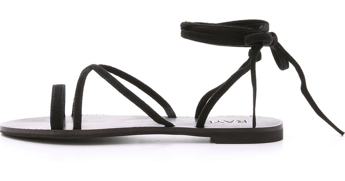 e4059742d89a Lyst - RAYE Sadie Suede Gladiator Sandals - Black in Black