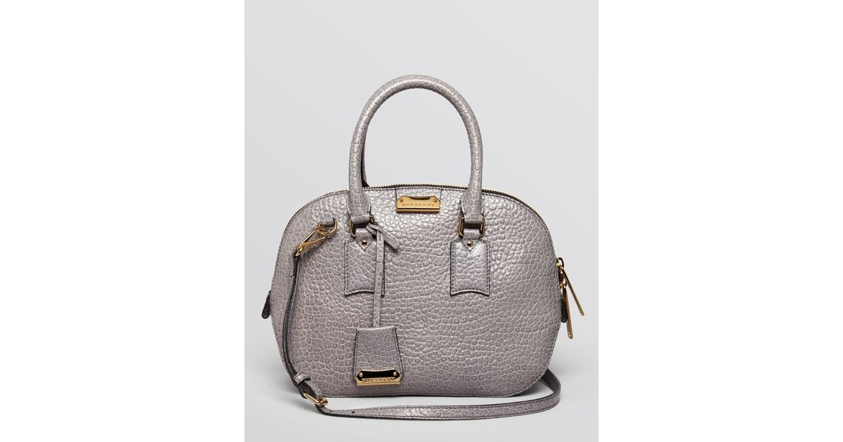 76061e46e1ad Lyst - Burberry Satchel Heritage Vintage Small Orchard Bowling in Gray