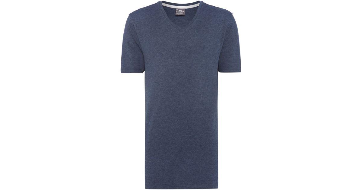 lacoste nightwear v neck t shirt in blue for men lyst. Black Bedroom Furniture Sets. Home Design Ideas