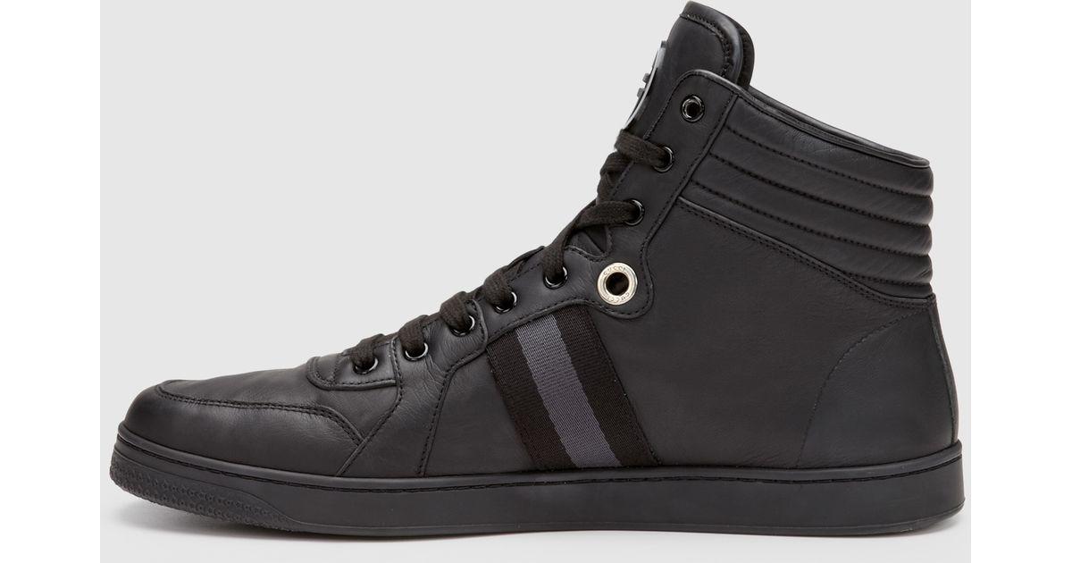 e1f75a4d5eb Gucci Men S High Top Sneaker From Viaggio Collection In Black For