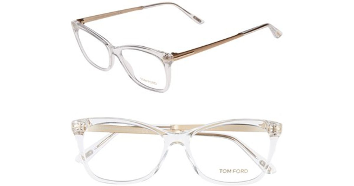 7213c2cc97 Lyst - Tom Ford 54mm Optical Glasses - Crystal in White