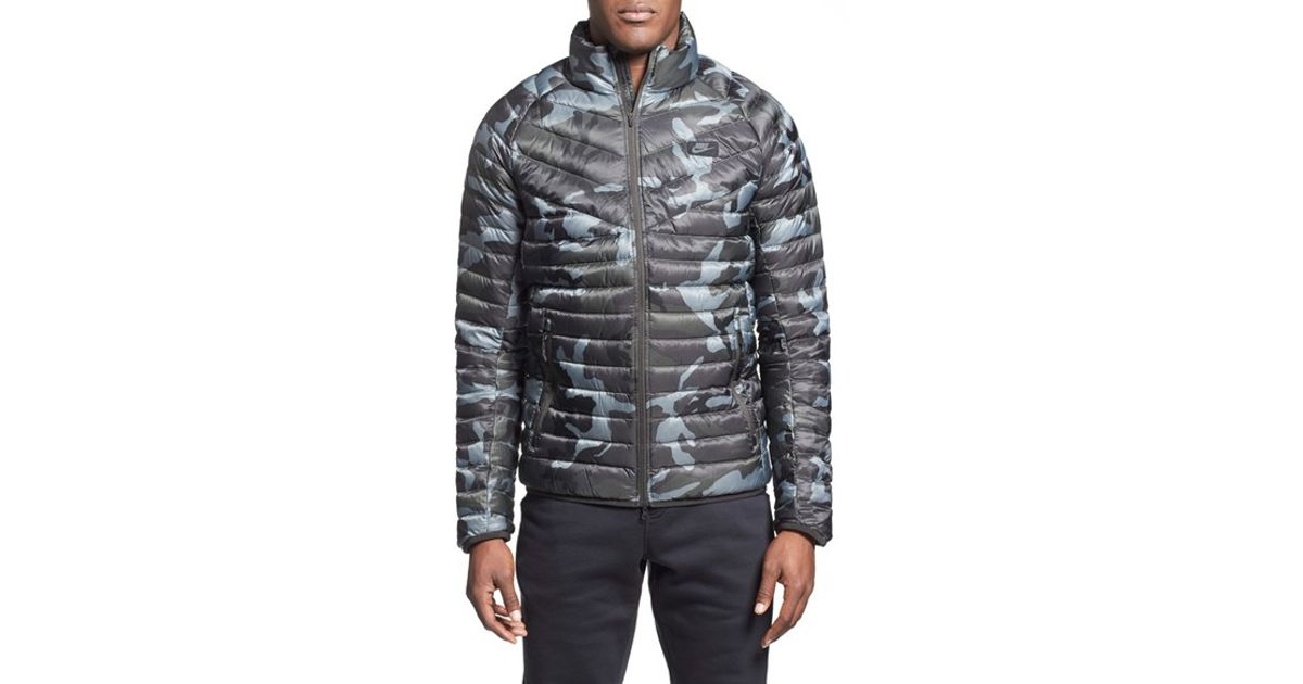 Lyst - Nike  guild 550  Camo Print Quilted Down Jacket in Gray for Men 5eb01be52