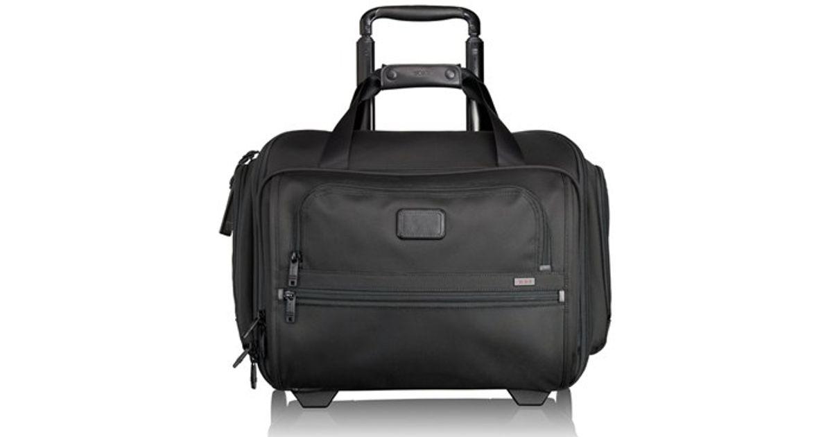 4ebb59230 Tumi 'alpha 2' Rolling Four Wheel Duffel Bag in Black for Men - Lyst