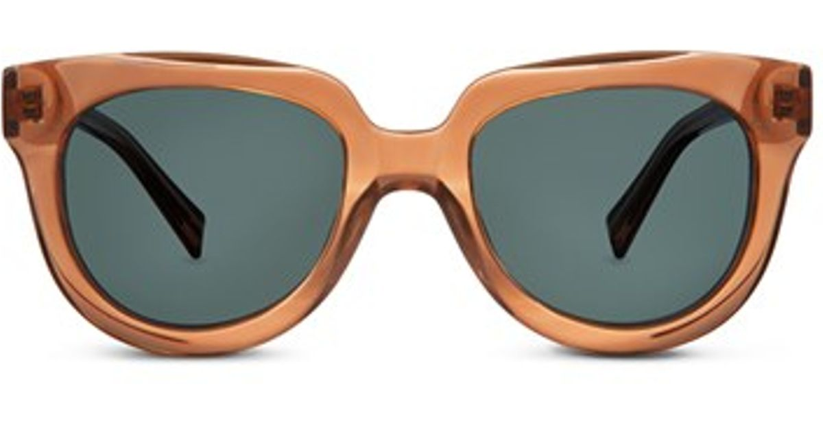 1e8bc9430cc Lyst - Warby Parker  Banks  52Mm Polarized Sunglasses - Ginger Crystal in  Brown