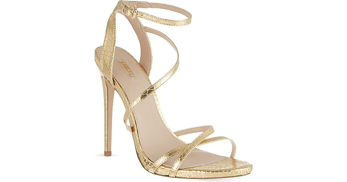 71bfa256e81 Lyst - Carvela Kurt Geiger Georgia Metallic Faux Snakeskin Stilettos in  Metallic